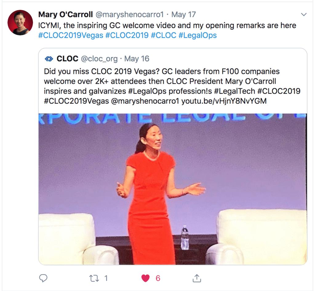 President of CLOC speaking at COC 2019