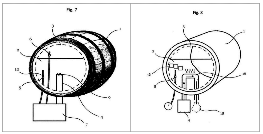 drawing from rum aging barrel patent application